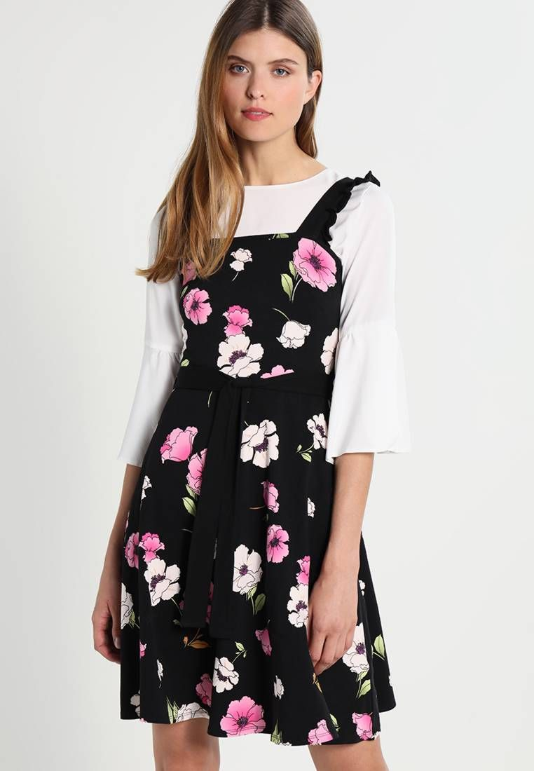 e59f2c9e33 Dorothy Perkins. FLORAL RUFFLE SUNDRESS - Jersey dress - black .  Fit tailored.