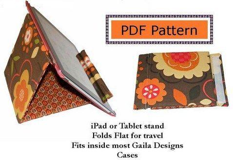 iPad Stand - Free PDF Sewing Pattern   Sewing patterns, Pdf sewing ...