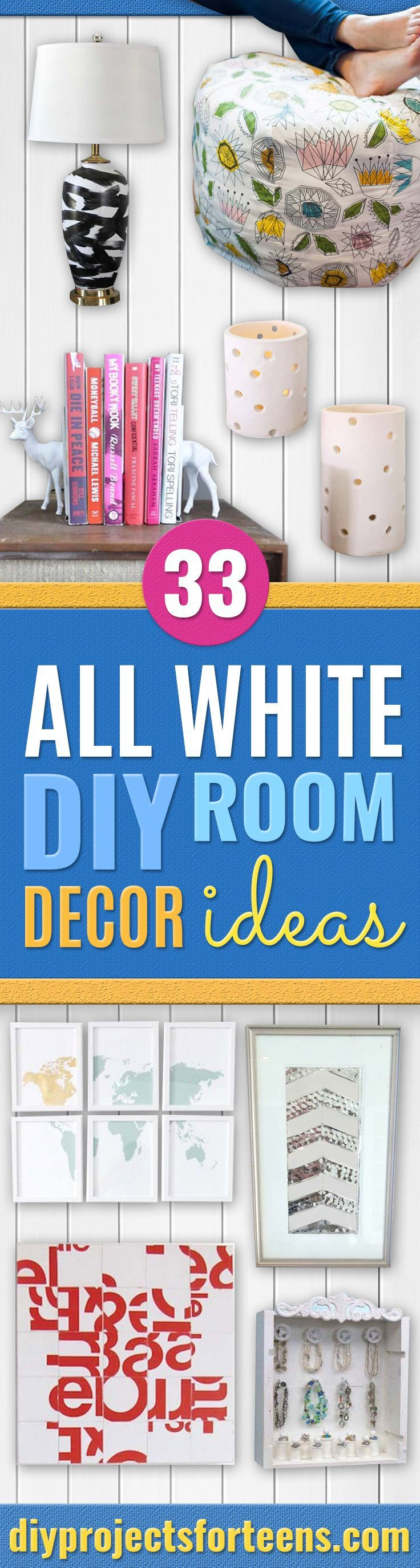 Cute diy room decor pinterest all white diy room decor  pinterest  diy room decor room decor