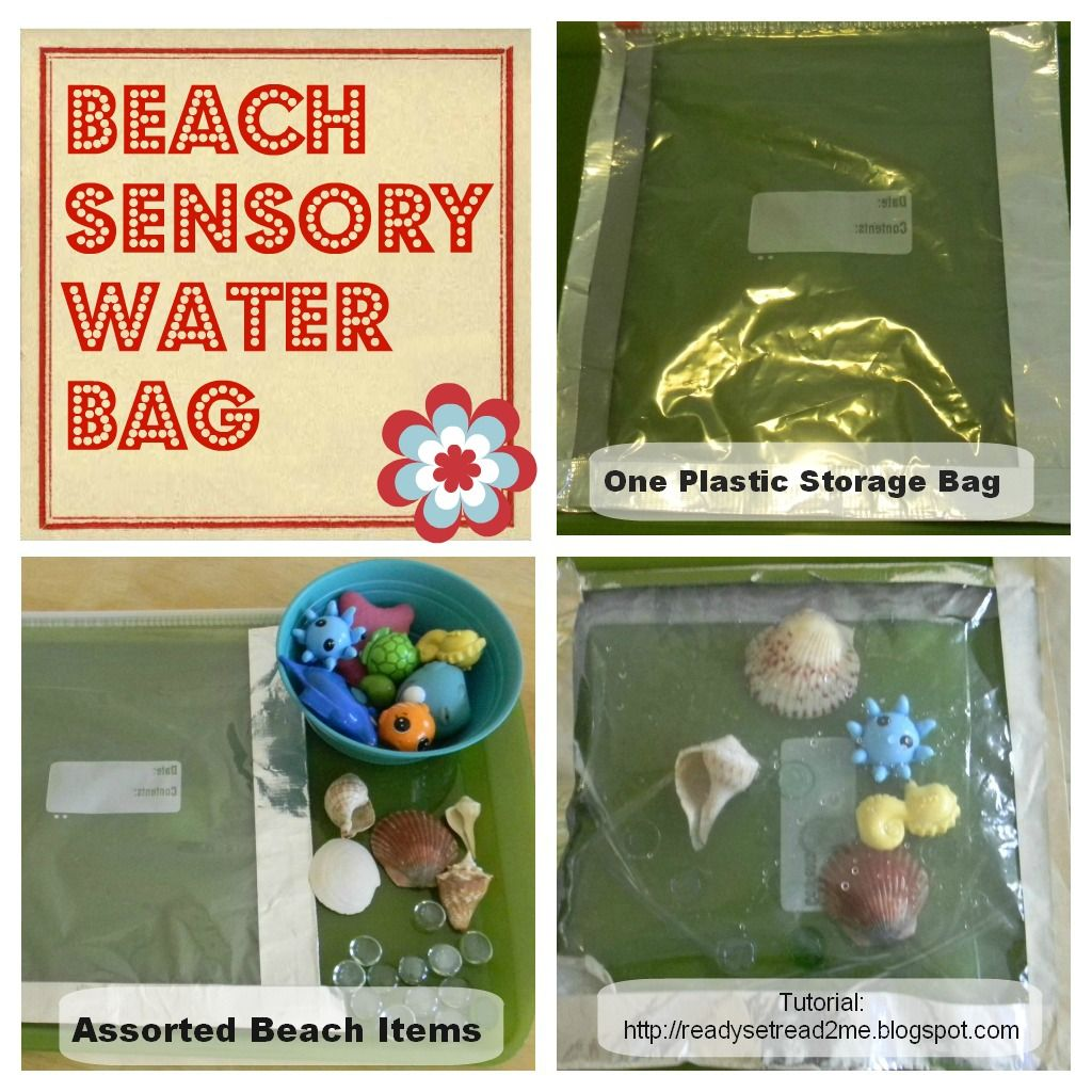 How To Make A Beach Water Sensory Bag For Preschoolers From Ready Set Read