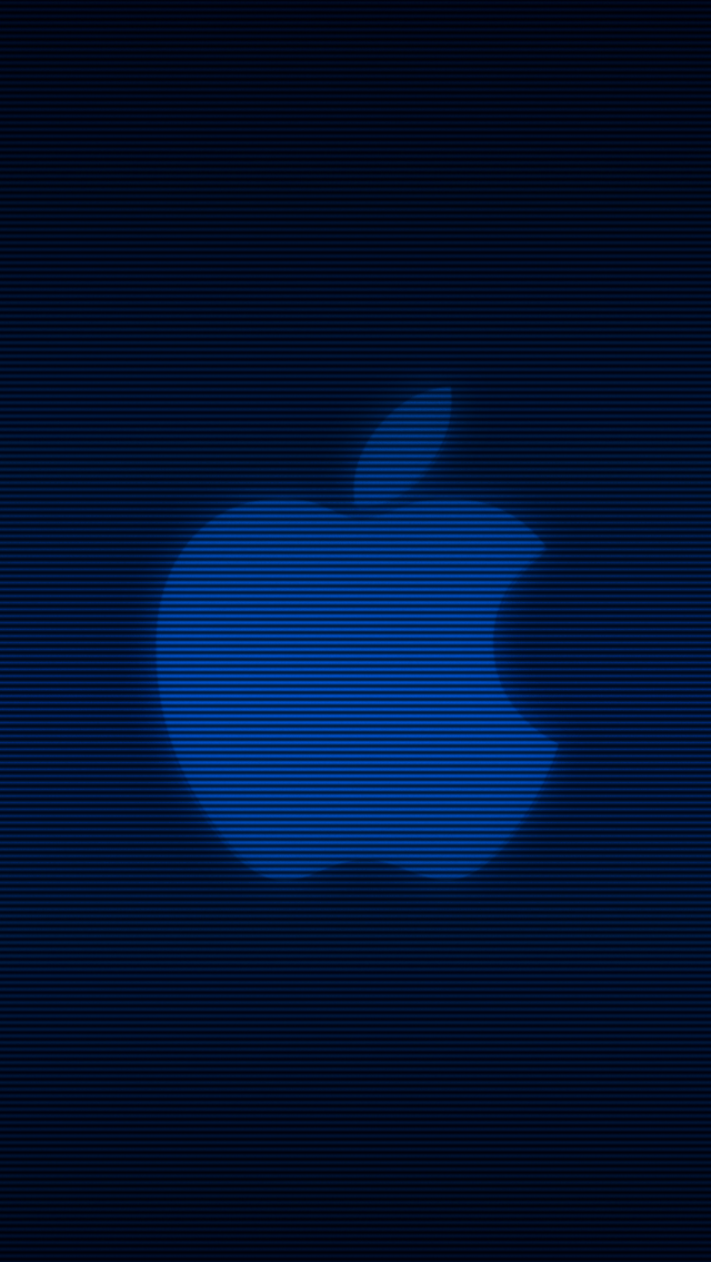 IPhone 5 Wallpaper Apple Blue Applelogo