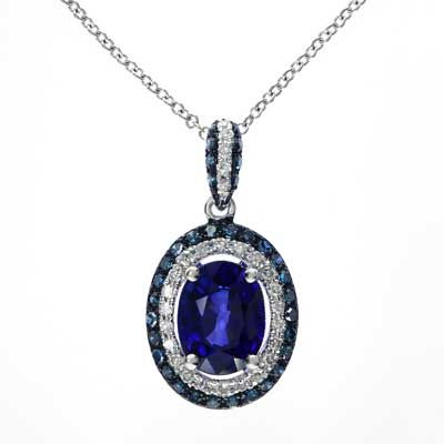 Effy Collection Oval Ceylon Sapphire And 1 3 Ct T W