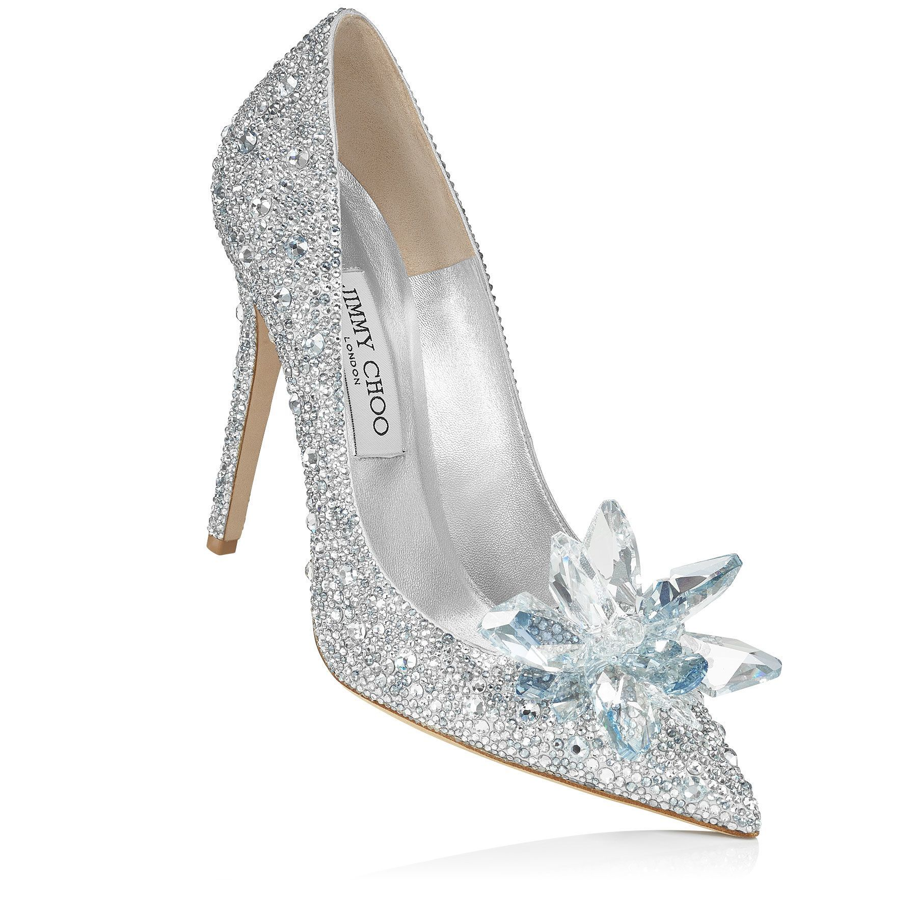 Crystal Covered Pointy Toe Pump 'Cinderella Slipper' | Cinderella | Exclusive | JIMMY CHOO The Cinderella Edit