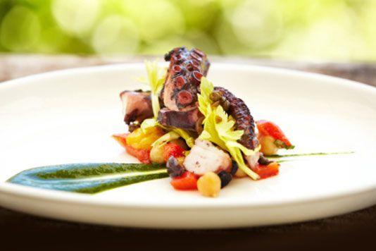 Fine Dining Food Gallery barbecue shrimp appetizer menu calamari