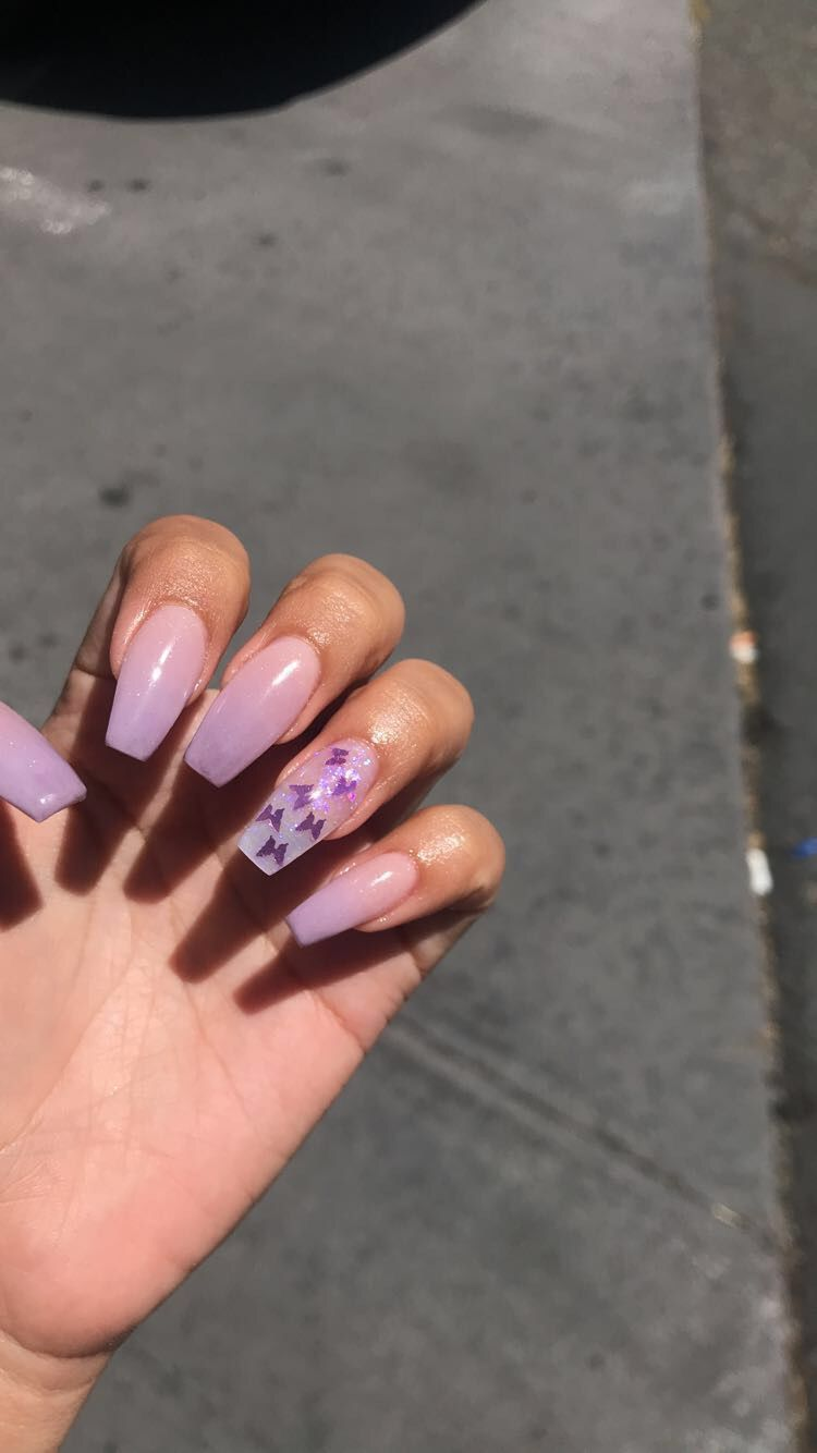 Best Summer Ombre Nails In 2019 Stylish Belles Purple Acrylic Nails Purple Ombre Nails Ombre Acrylic Nails