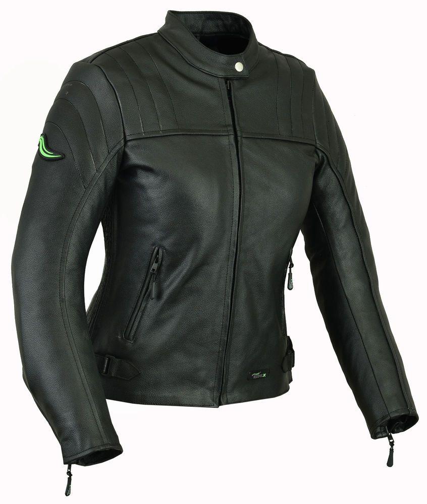 Ladies Women Biker Motorbike Motorcycle Ridex Lj6 Ce Protector Leather Jacket [ 1000 x 846 Pixel ]