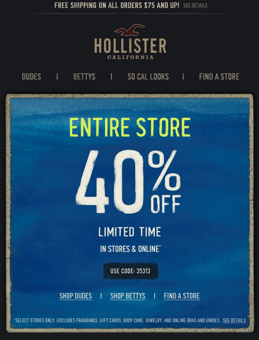 promo coupons for hollister