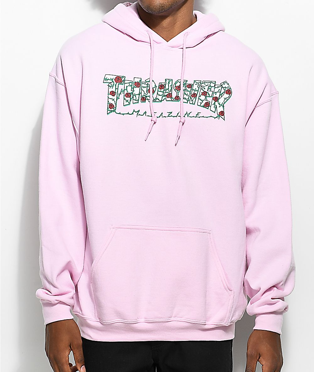 3b5a93a5a03d Thrasher Roses Pink Hoodie