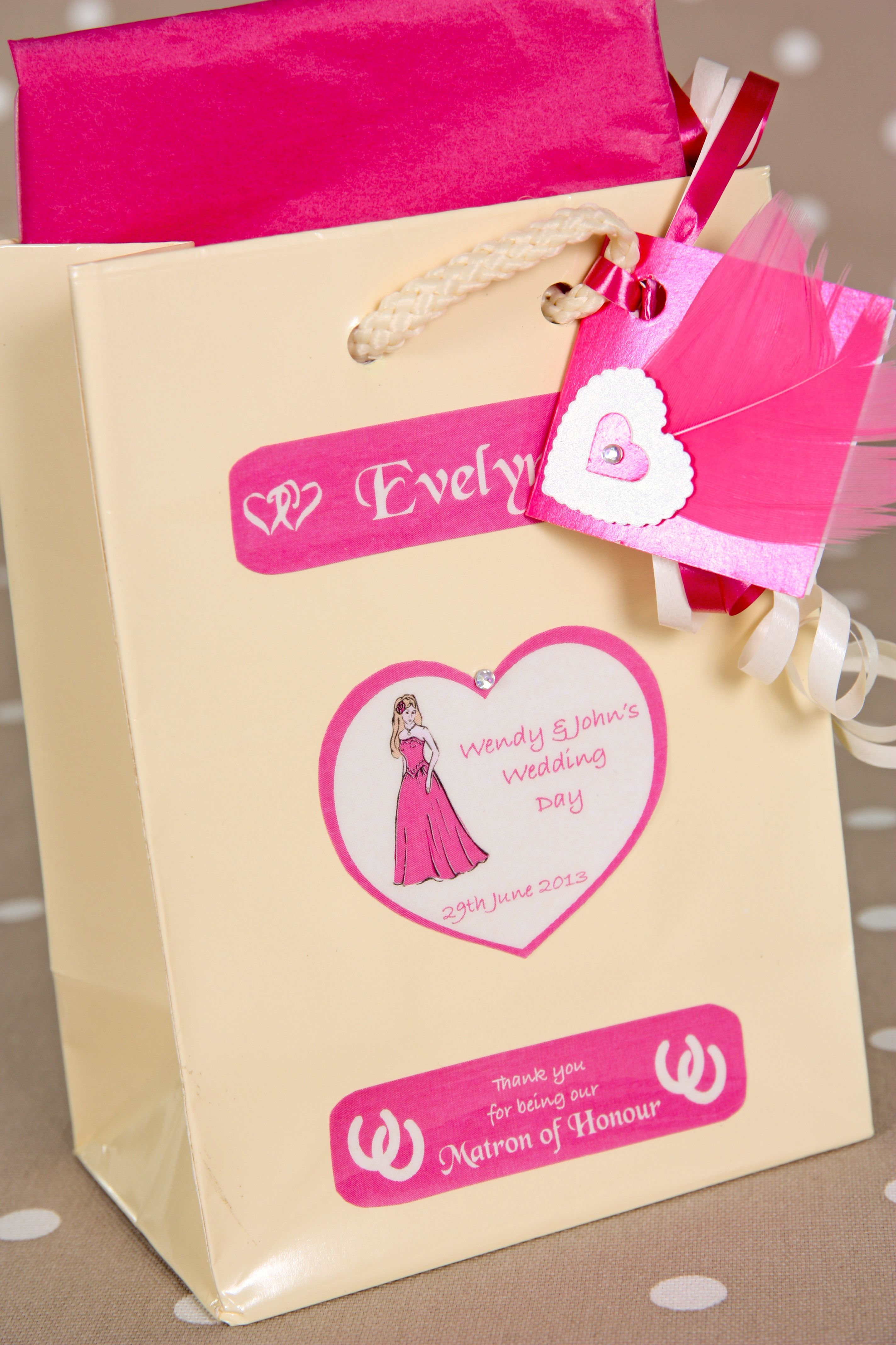 Maid of Honour Personalised Gift Bag. Available in 4 sizes and made ...