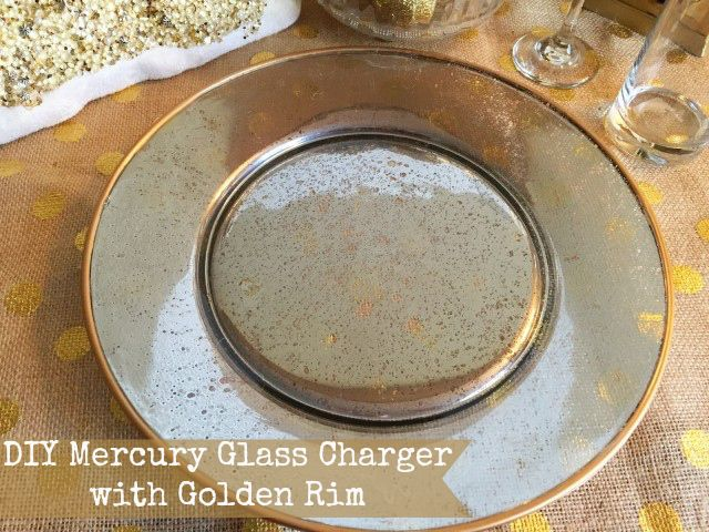 Diy Mercury Gl Charger With Golden Rim A Sparkle Of Genius