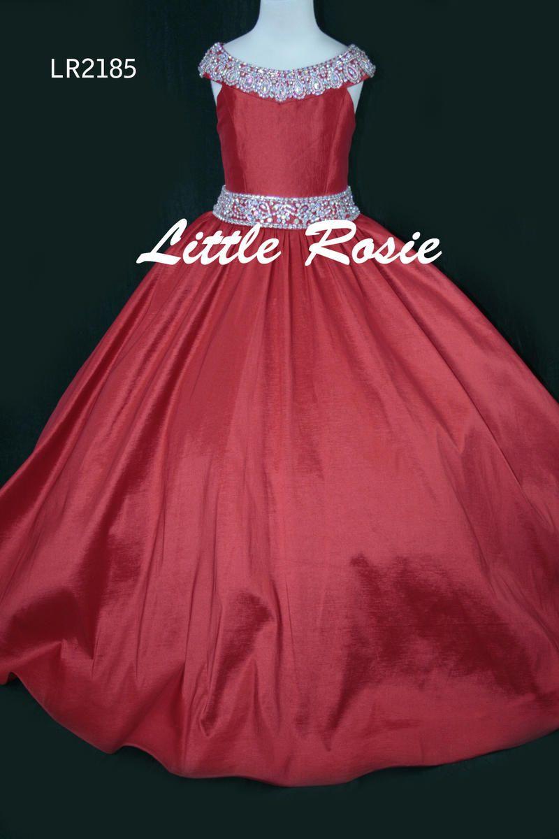 Little Rosie Girls Glitz Long Pageant LR2185 Little Rosie Long ...