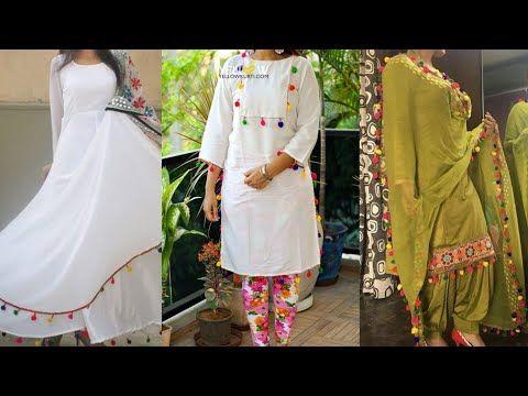44c39d2b687 Punjabi suit #punjabi suit with pom pom lace#beautiful Punjabi boutique suit  for girls
