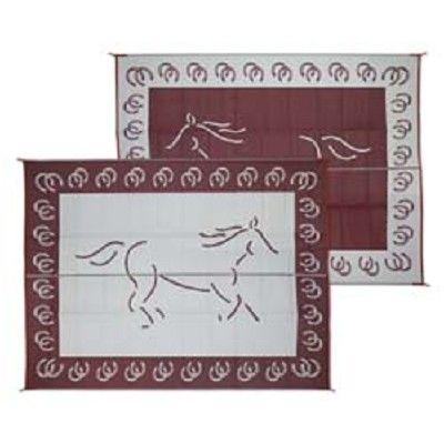 rv patio mat reversible horse 9ft x