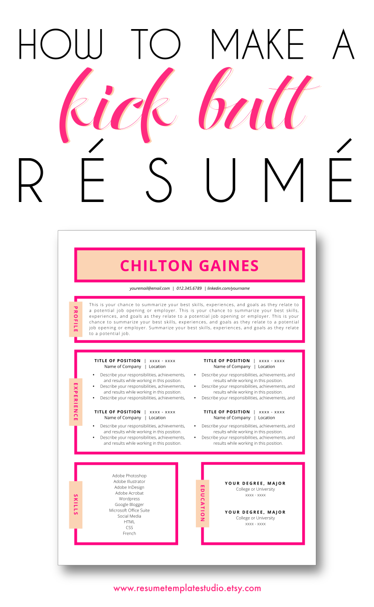 XOXO: How to make a resume that stands out! (Designs) | CAREER ...