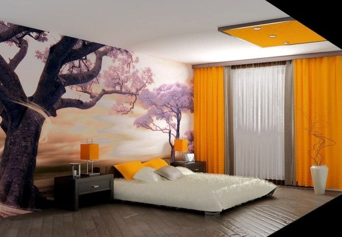 Japanese Bedroom Style With Attractive Wallpaper Decolover Net