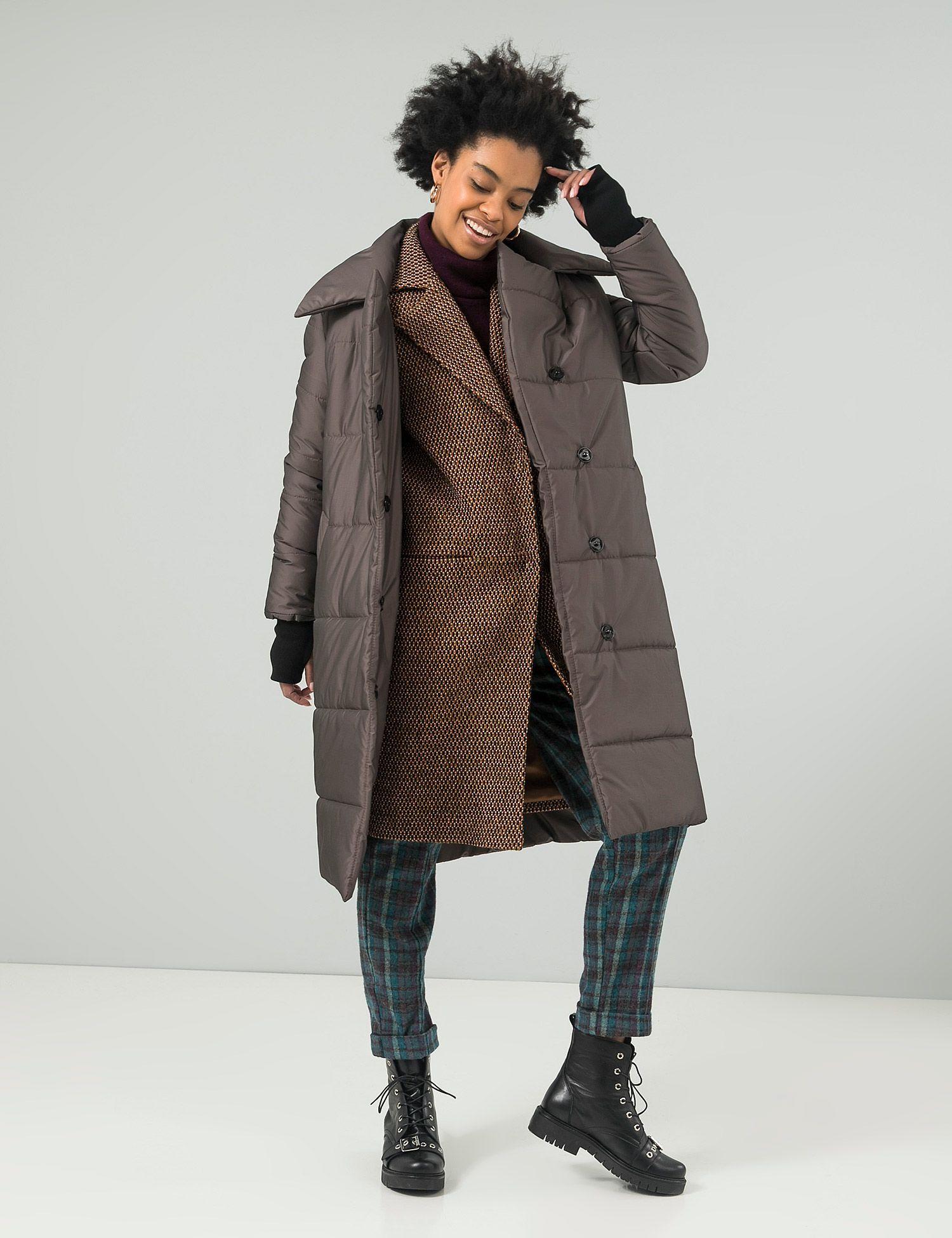1890ef0bac55cf Всі. Свої — Жіноче коричневе пальто 452'F 147-245-0199 | o n. m y ...