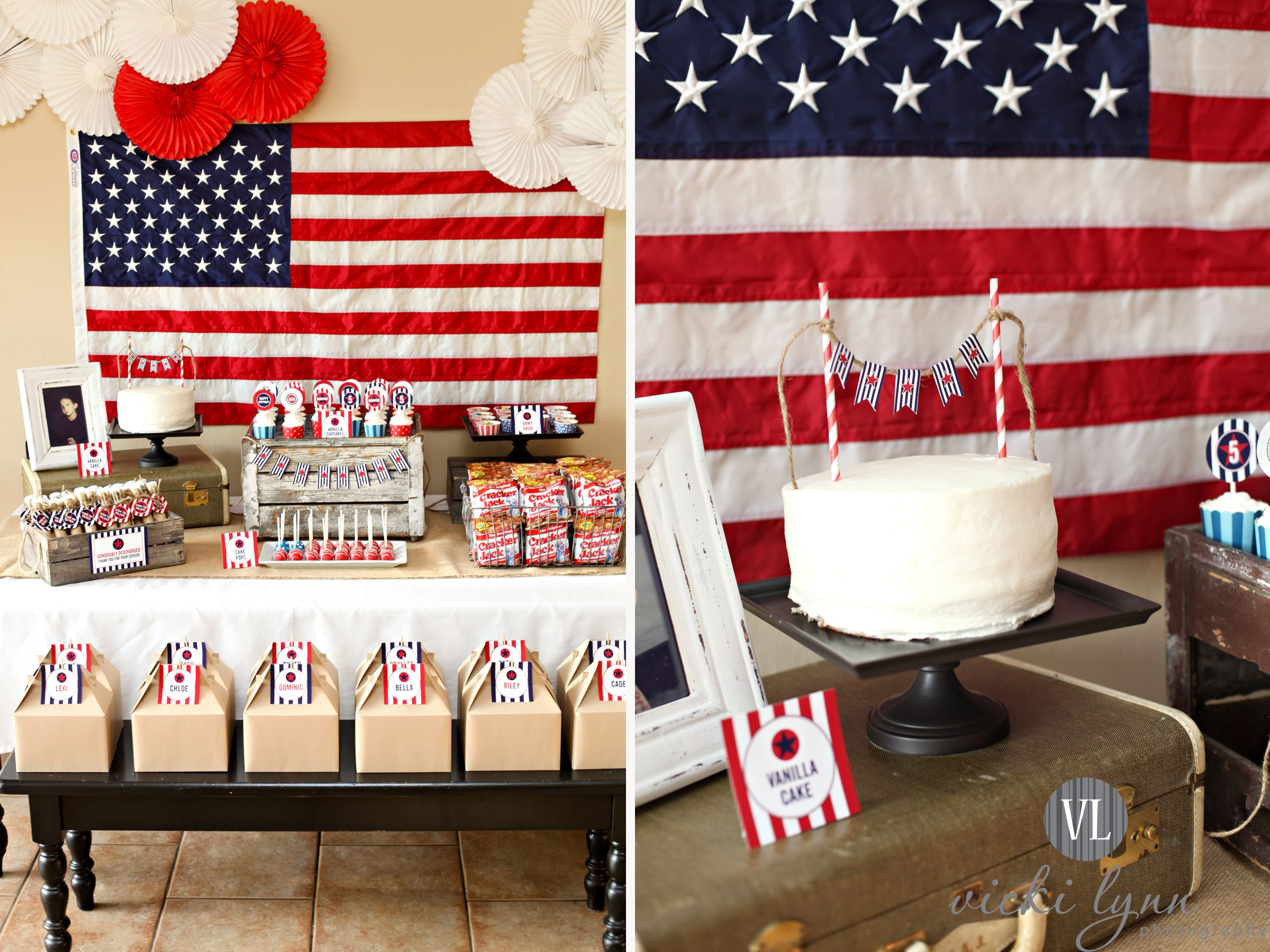 Cake Vicki Lynn Photography Welcome Home Parties Deployment Party Soldier Party
