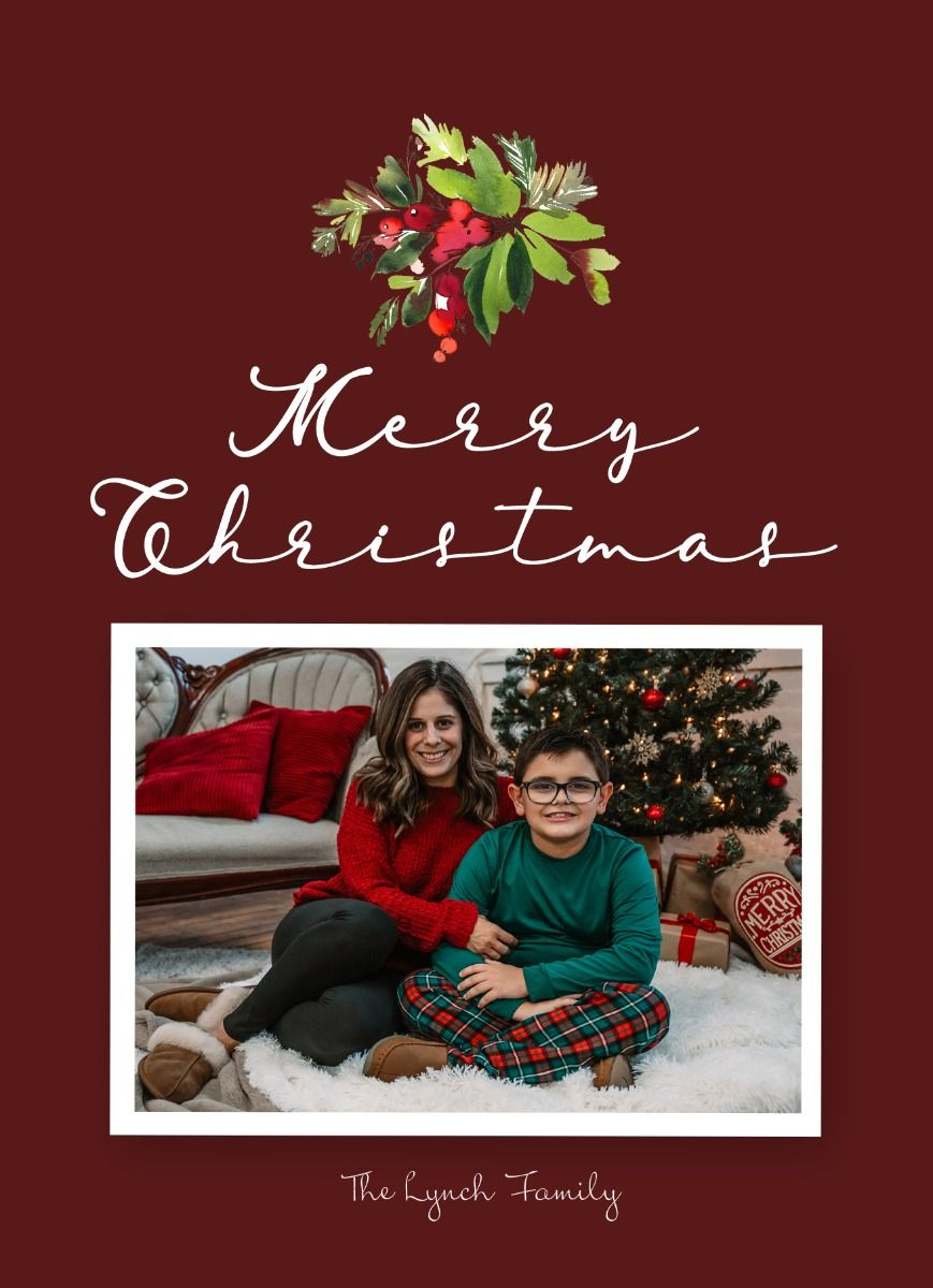 Holiday Merry Christmas Card Photoshop Template For Photographers Christmas Card Photoshop Merry Christmas Card Christmas Card Template