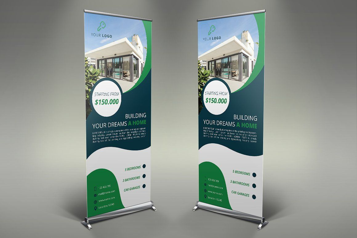 Real Estate Roll Up Banners