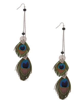 I'm all about the peacock feathers
