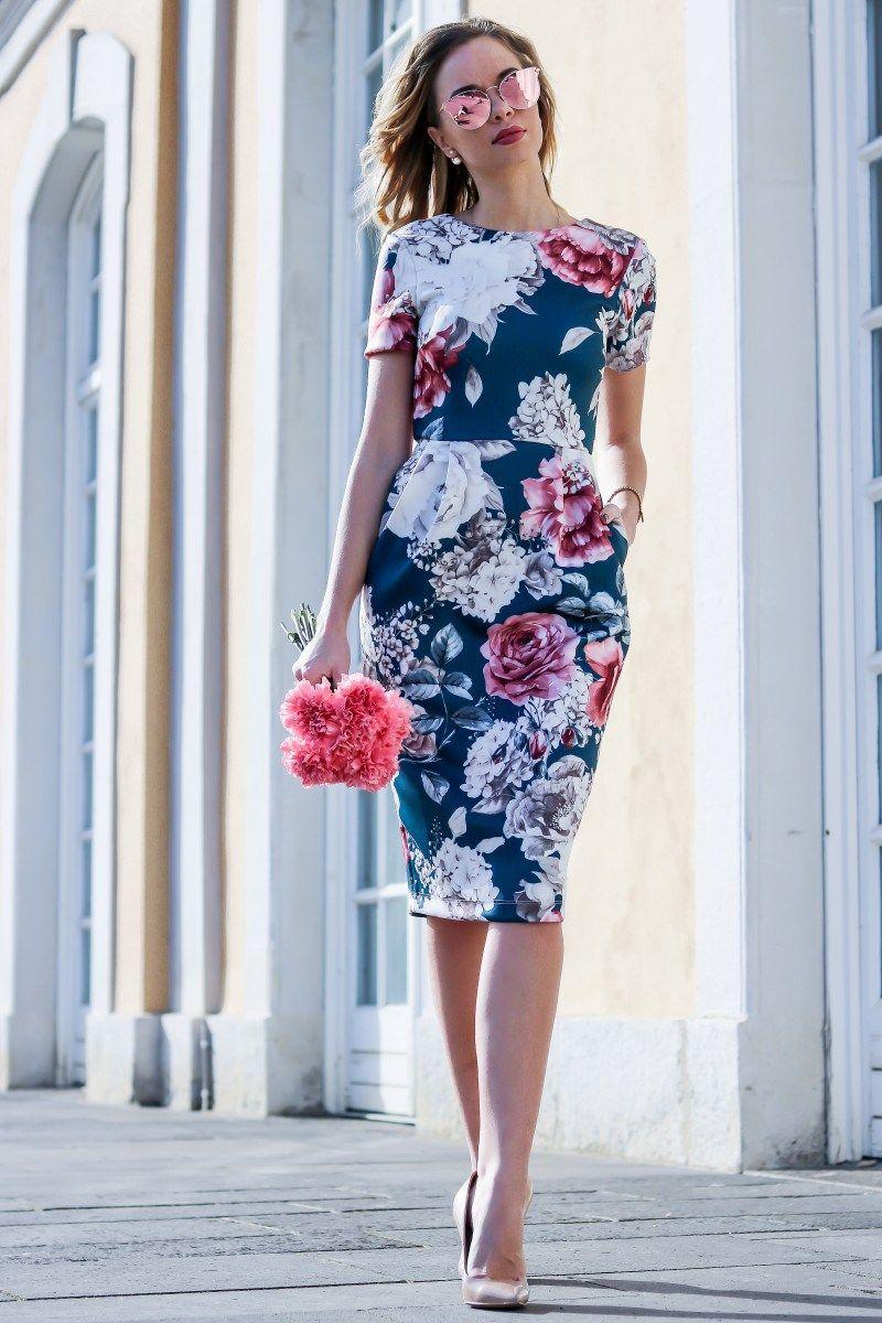 Floral Dress for Spring   Kleiderstile, Schicke kleider ...