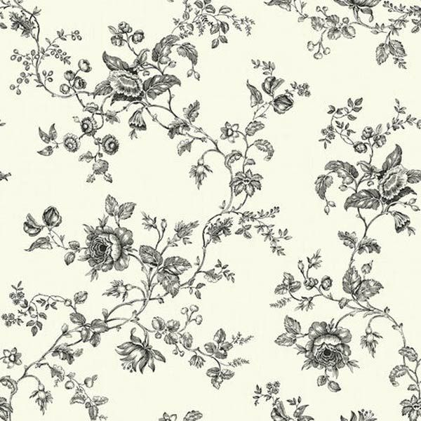 Floral Vine Wallpaper Black And White - Google Search