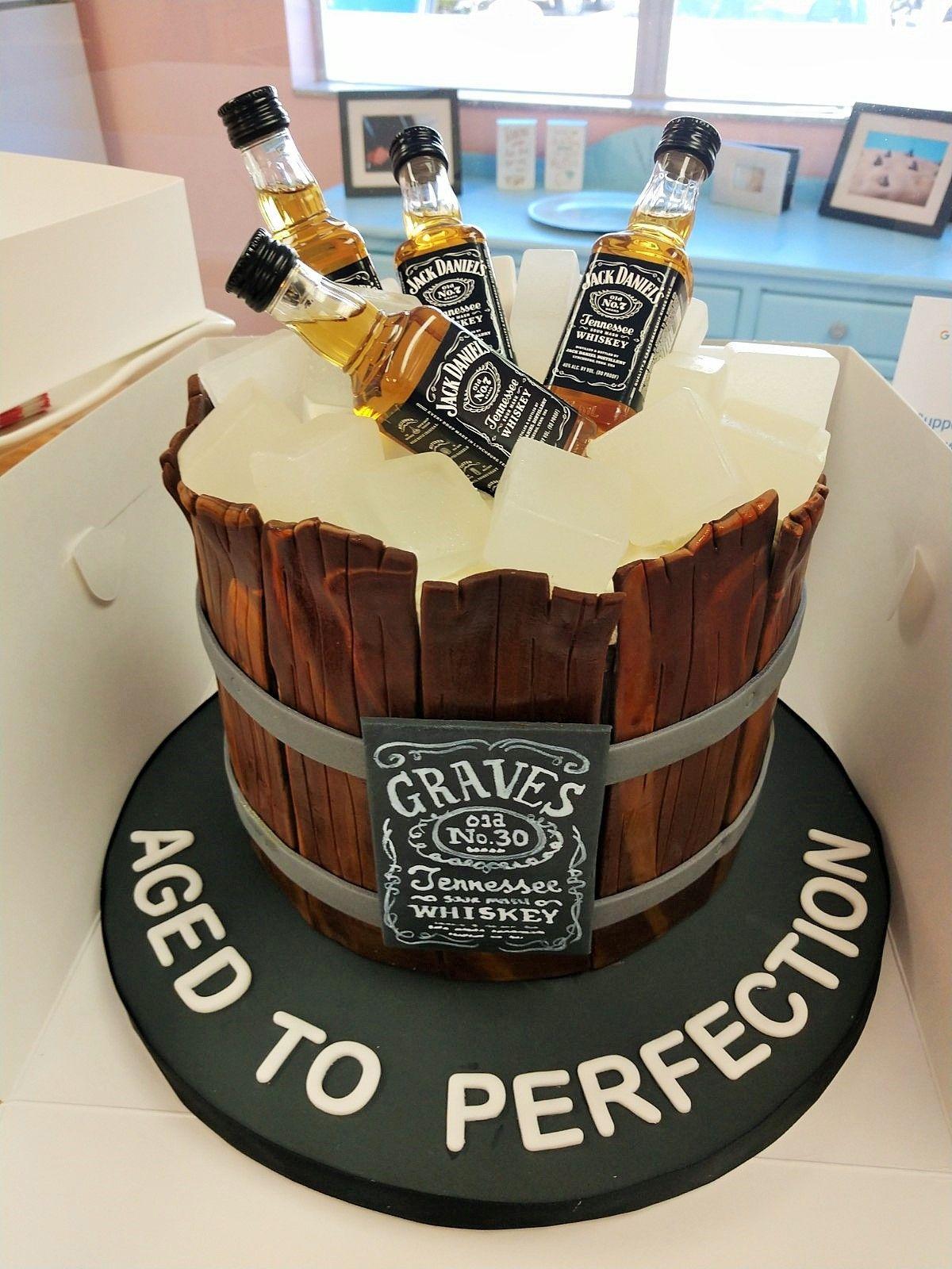 Brilliant Jack Daniels Cake 30Th Birthday Cake Birthday Cakes For Guys Funny Birthday Cards Online Elaedamsfinfo