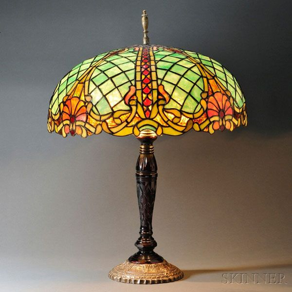R williamson leaded lamp