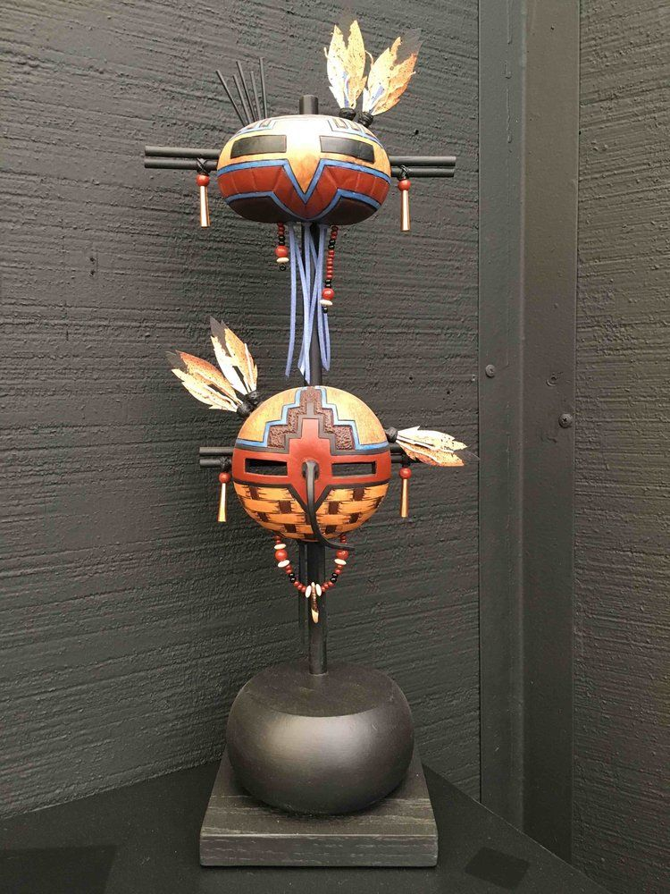Photo of Masks — Kinkade Gourds
