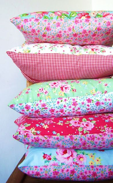 sweet summer pillow covers from silly old suitcase