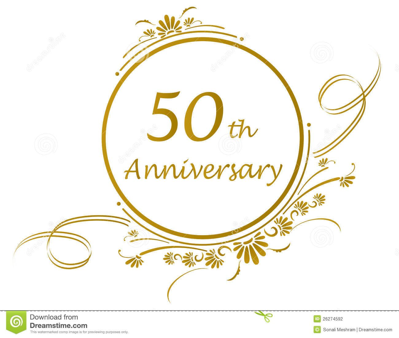 50 Anniversary 50th Design