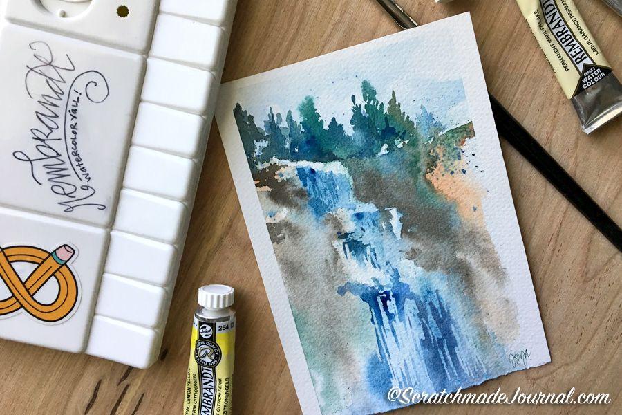Rembrandt Watercolor Review Watercolor Art Journal Watercolor