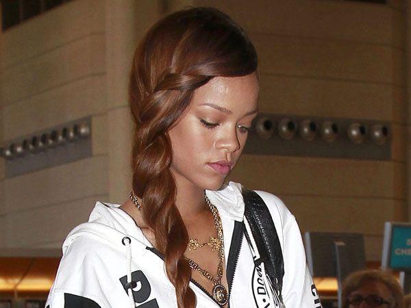 Los 20 peinados con trenza que desearás - Rihanna
