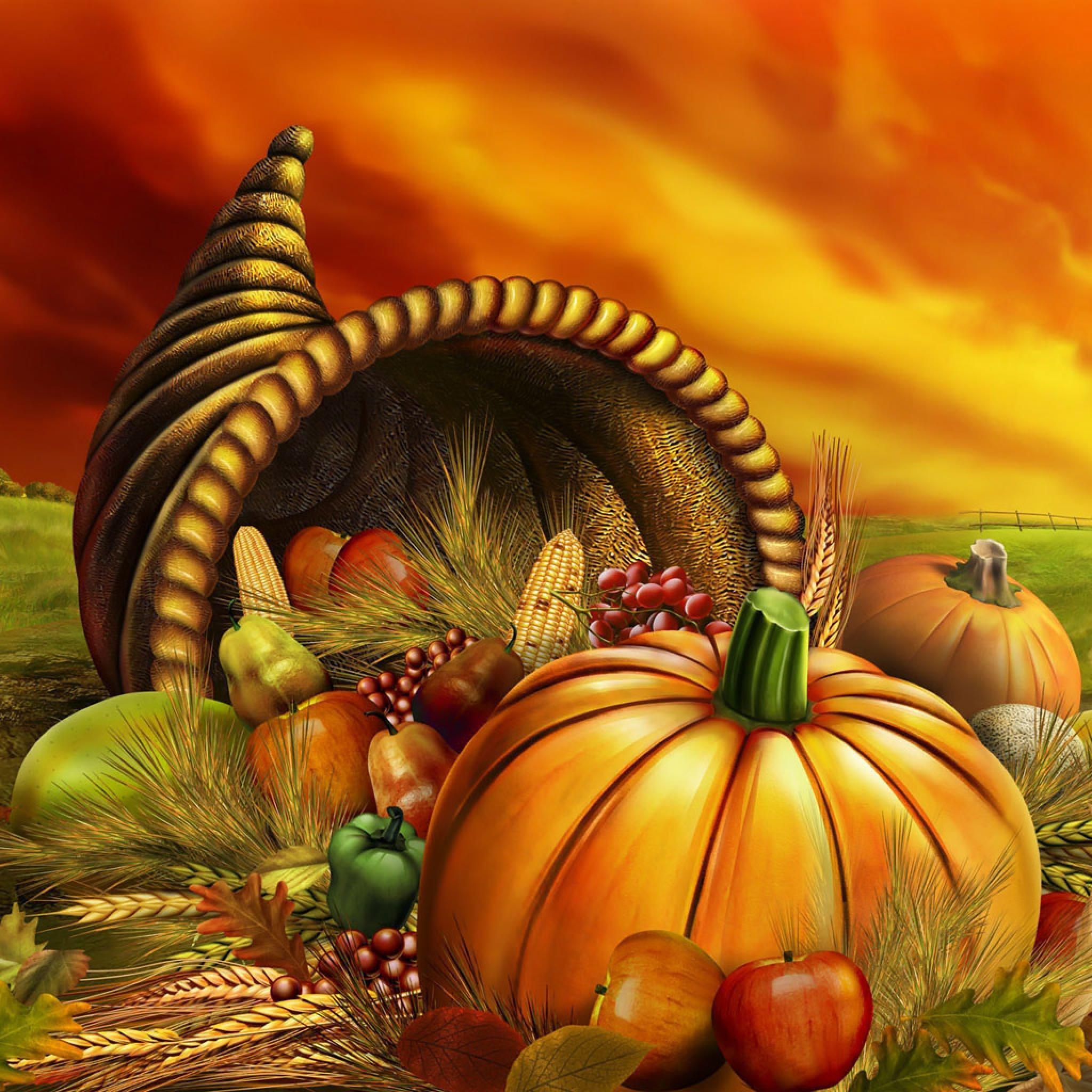 Thanksgiving Cornucopia Wallpaper