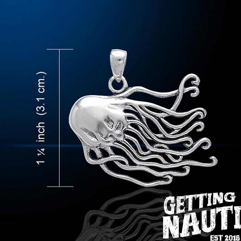 Custom sterling silver necklace jellyfish jellyfish sterling custom sterling silver pendant jellyfish getting nauti aloadofball Images