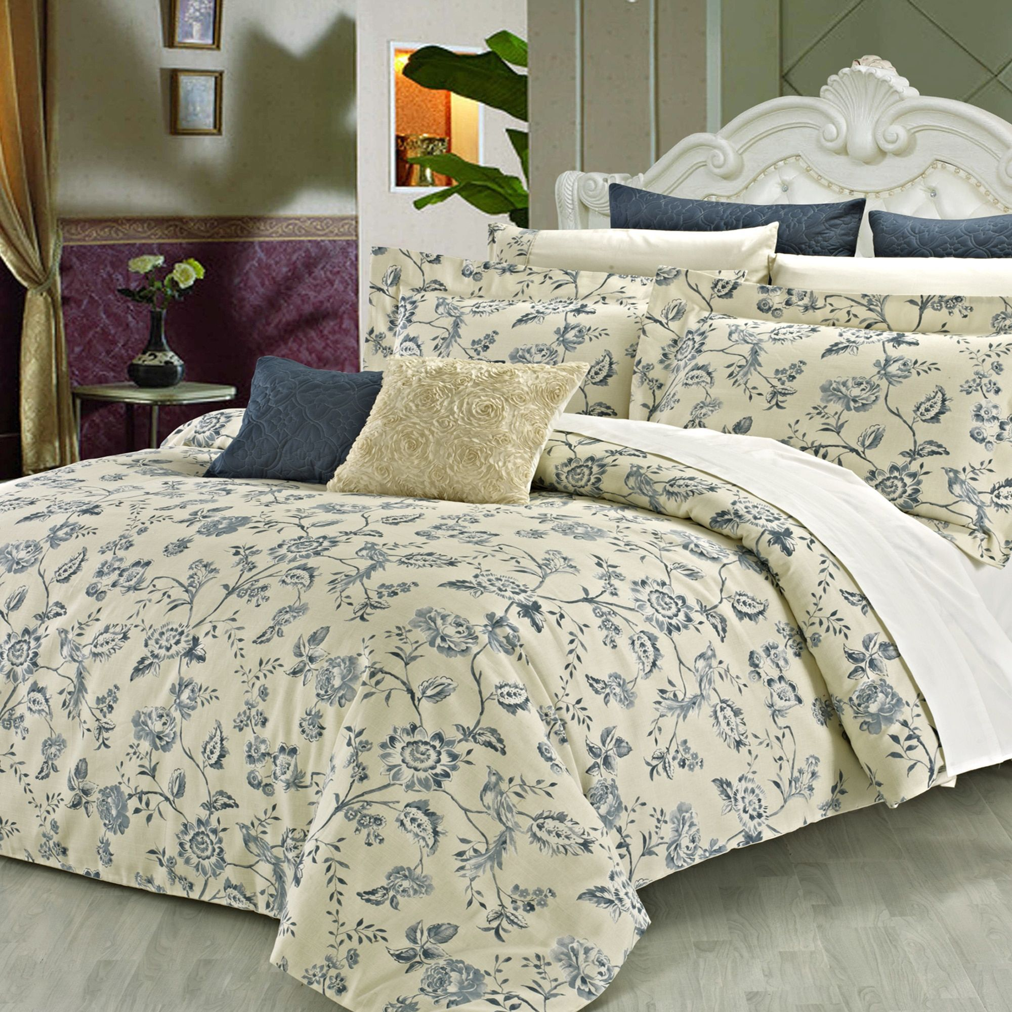 owings linens bed products king cream bedrooms set duvet pc