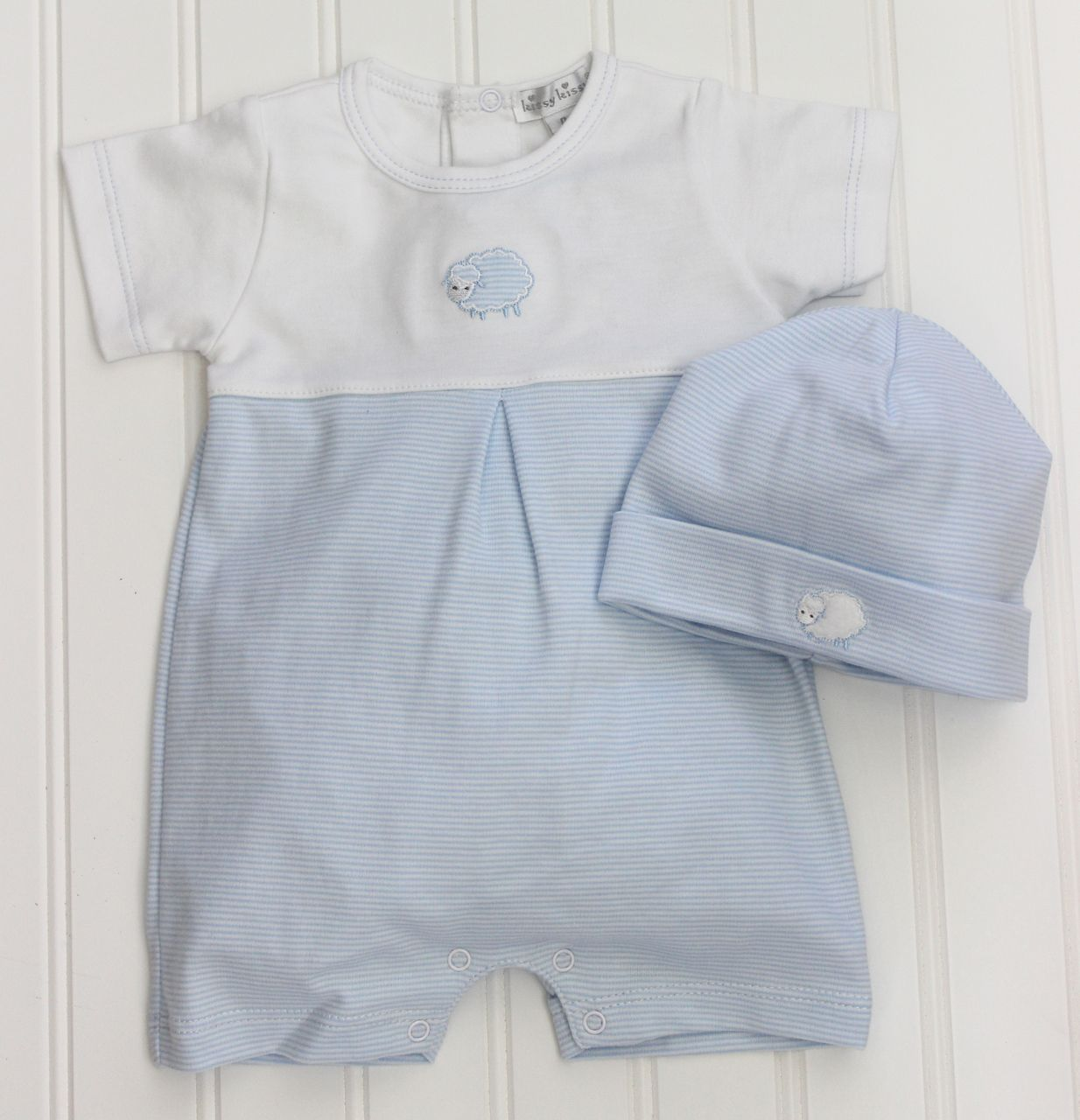 Boys Blue Dressy Romper Take Home Outfit