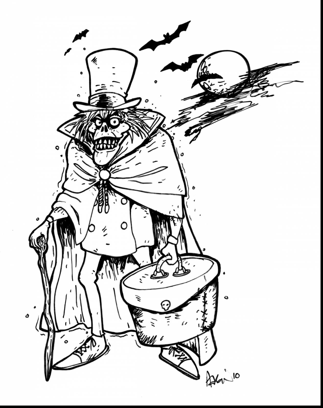 Disney Haunted Mansion Coloring Pages Download House