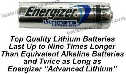 Energizer L91 Aa Ultimate Lithium 1 5 Volt Battery Exp 2027 Bulk Pack Available Flashlight And Battery At Www Batter Lithium Battery Energizer Batteries