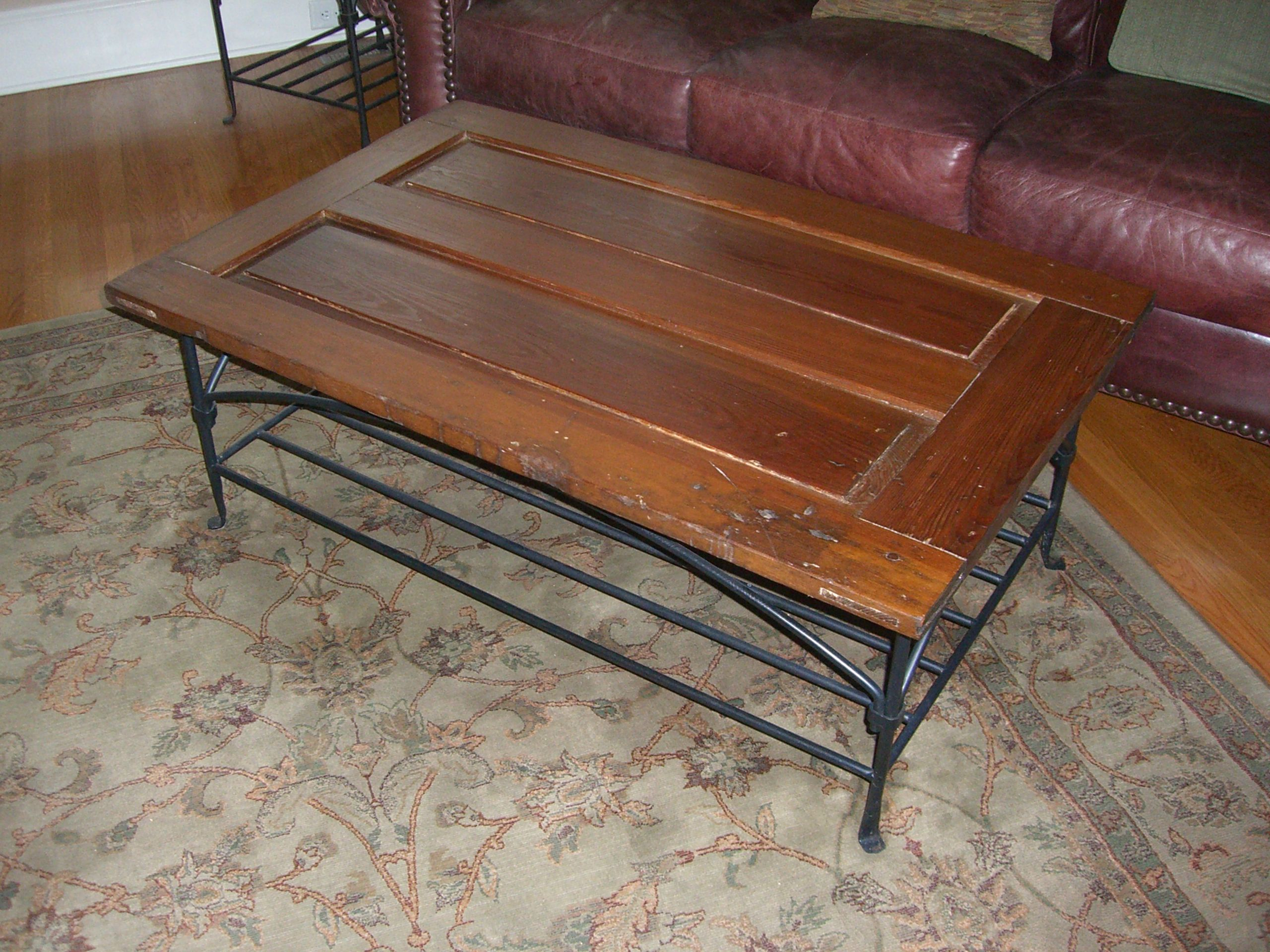Repurpose Old Door To Coffee Table Crafts Pinterest