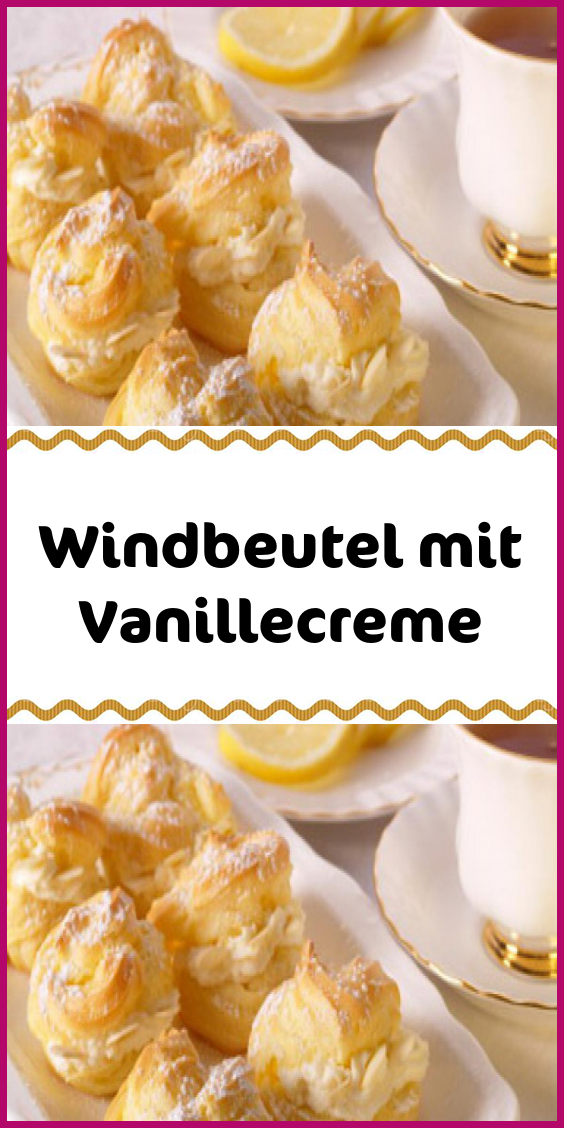 Windbeutel mit Vanillecreme