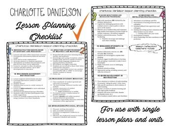 Charlotte Danielson Lesson Plan Template A Sweet Design For The