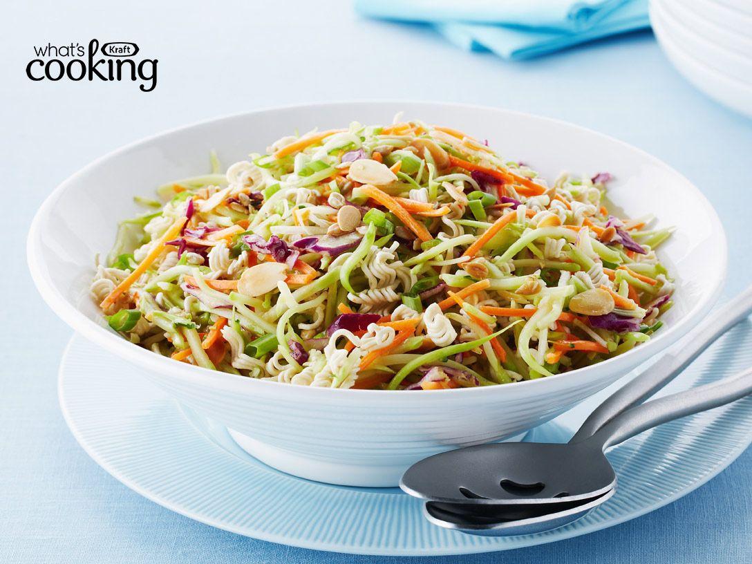 Crunchy Asian Broccoli Coleslaw #recipe