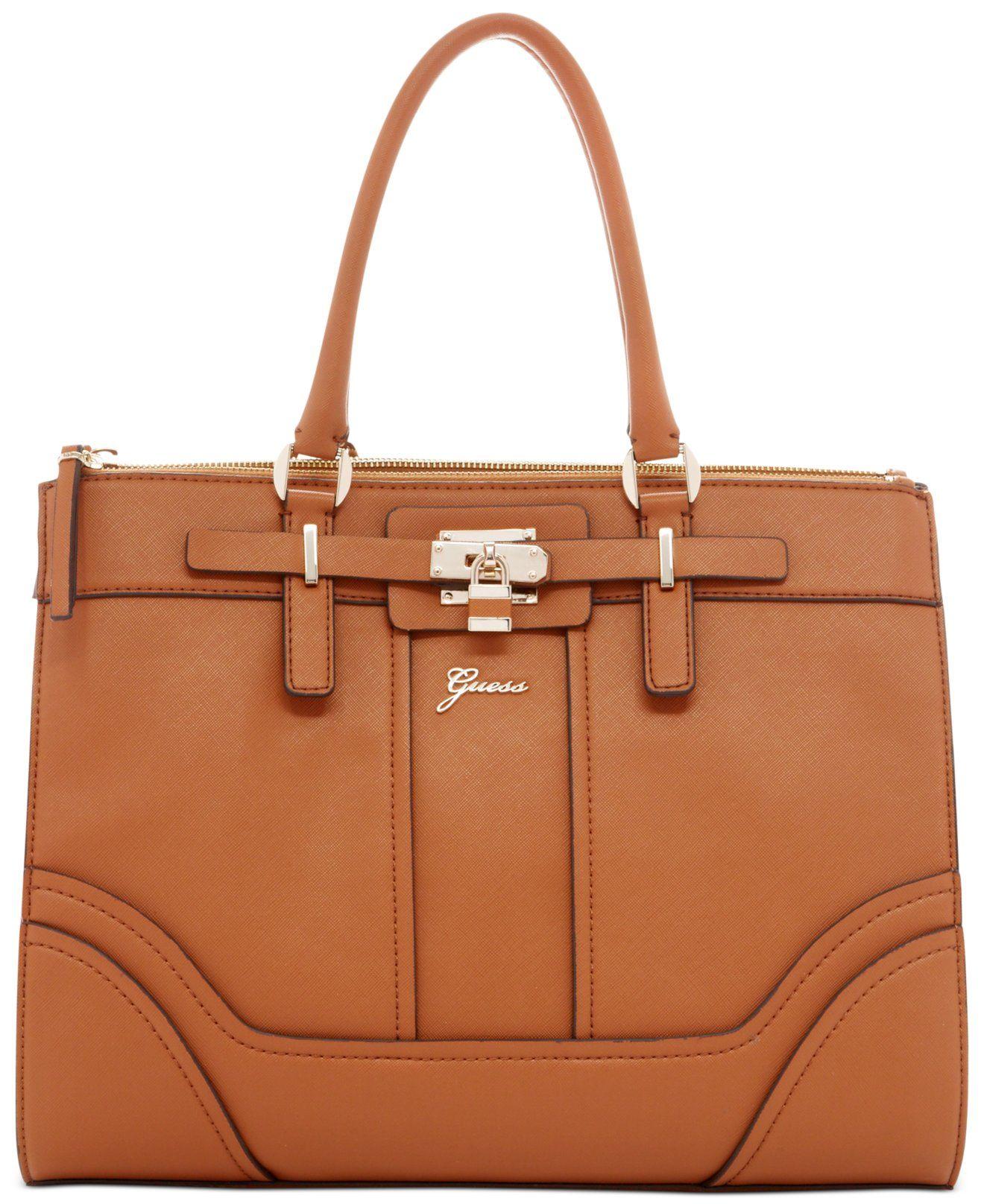 GUESS Greyson Status Carryall Saffiano - Tote Bags - Handbags   Accessories  - Macy s b0f1d0b2f9142