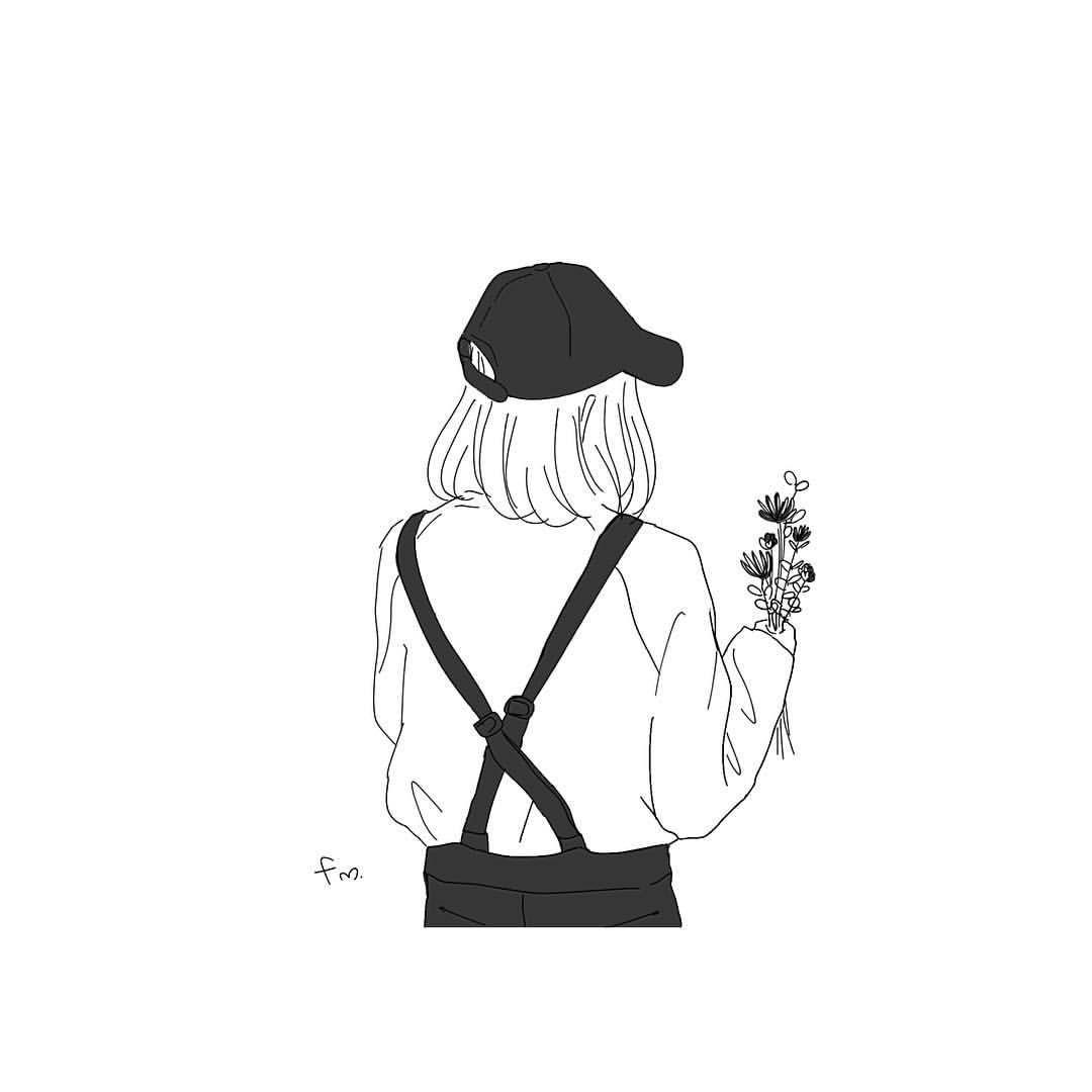 Instagram 上的 フロマージュ イラスト Fm おしゃれさんを描いてみました 有難い事に 私の絵をアイコンにして頂く機会が増えてきてます 人 アリガトウゴザイマス 私がおすすめするのが上半身の後ろ姿で アイコン 可愛い イラスト 背景 素材