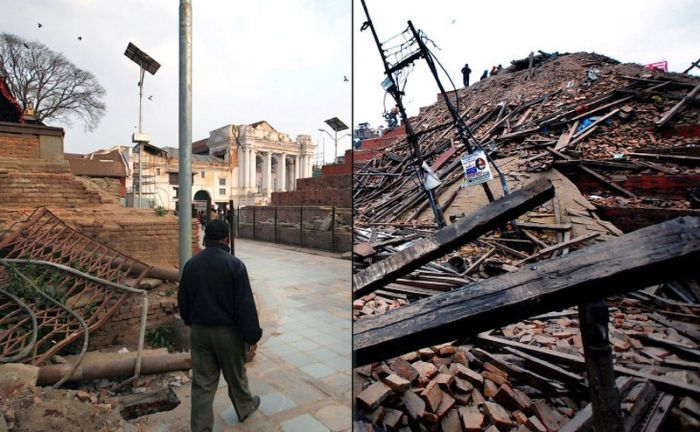 Nepal Before And After Recent Massive Earthquake