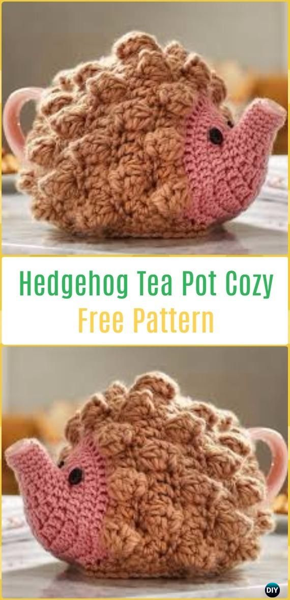 25 Crochet Knit Tea Cozy Free Patterns Picture Instructions