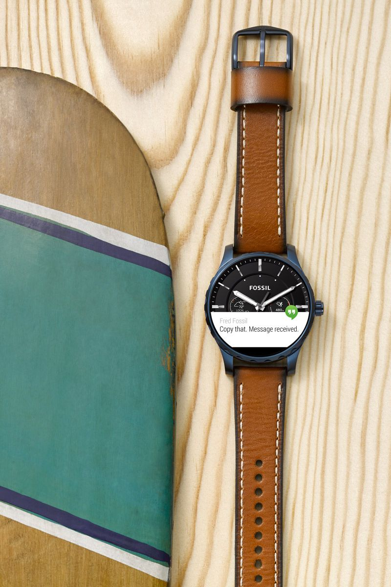 A Smartwatch He Cant Live Without The Q Marshal In Blue Ip With Fossil
