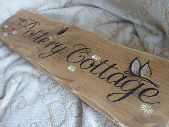 Custom Made Cottage House Name House Number Wooden Plaques Custom Wooden Signs House Names House Name Plaques