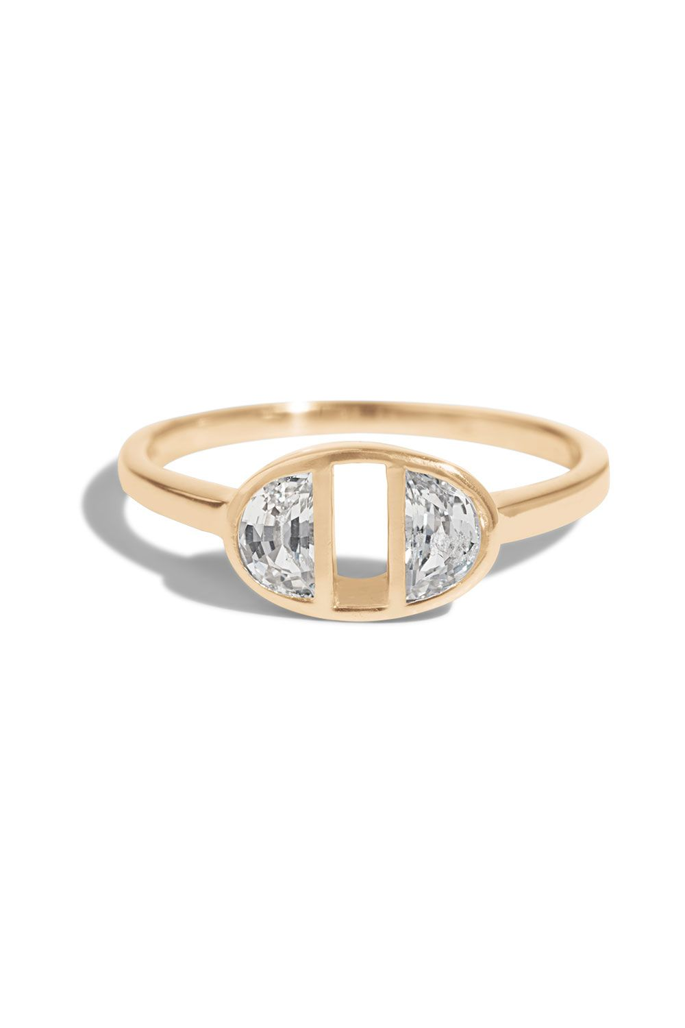 Half Moon Dyad Ring In 2018 Ethical Wedding Engagement Rings